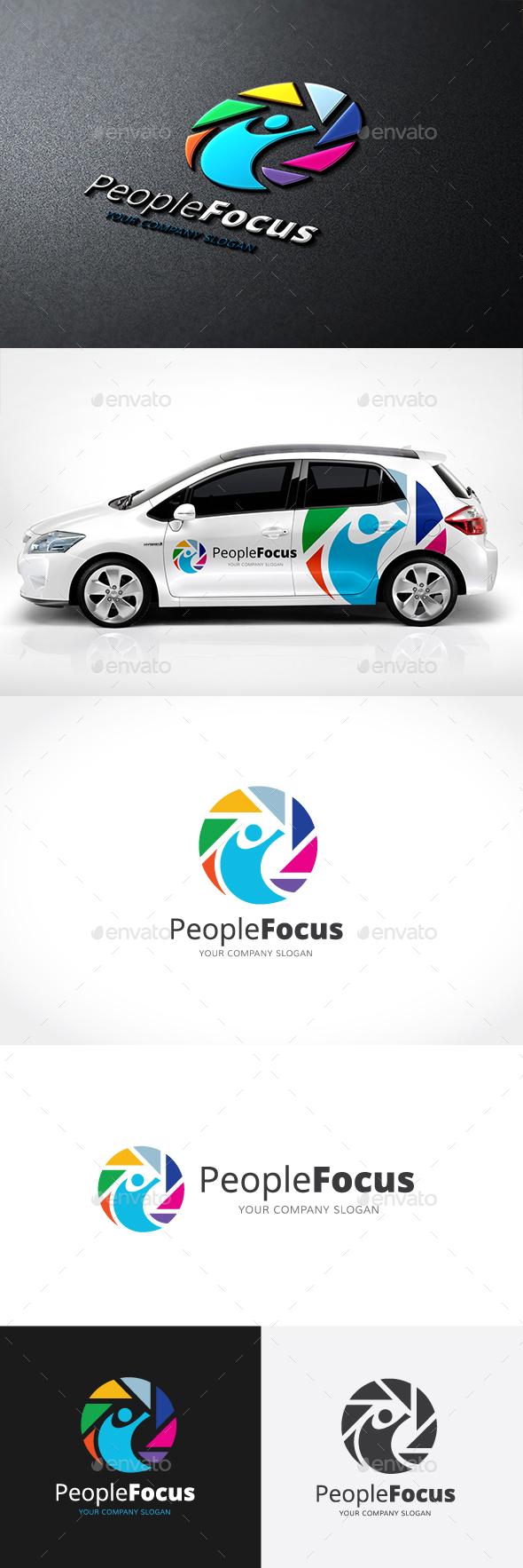People Focus Logo - Humans Logo Templates
