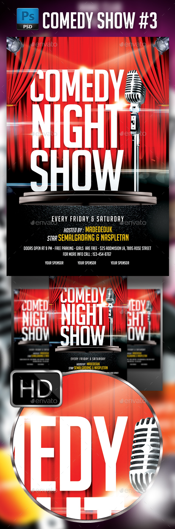 Comedy Show Flyer Template - Events Flyers