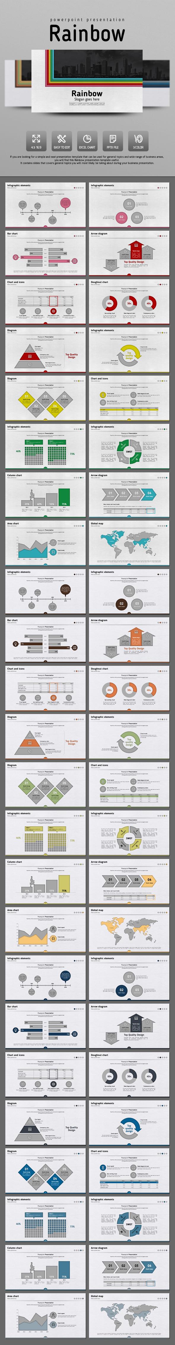 Rainbow - PowerPoint Templates Presentation Templates