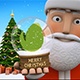Santa Fir-tree Glass Snowball  - VideoHive Item for Sale