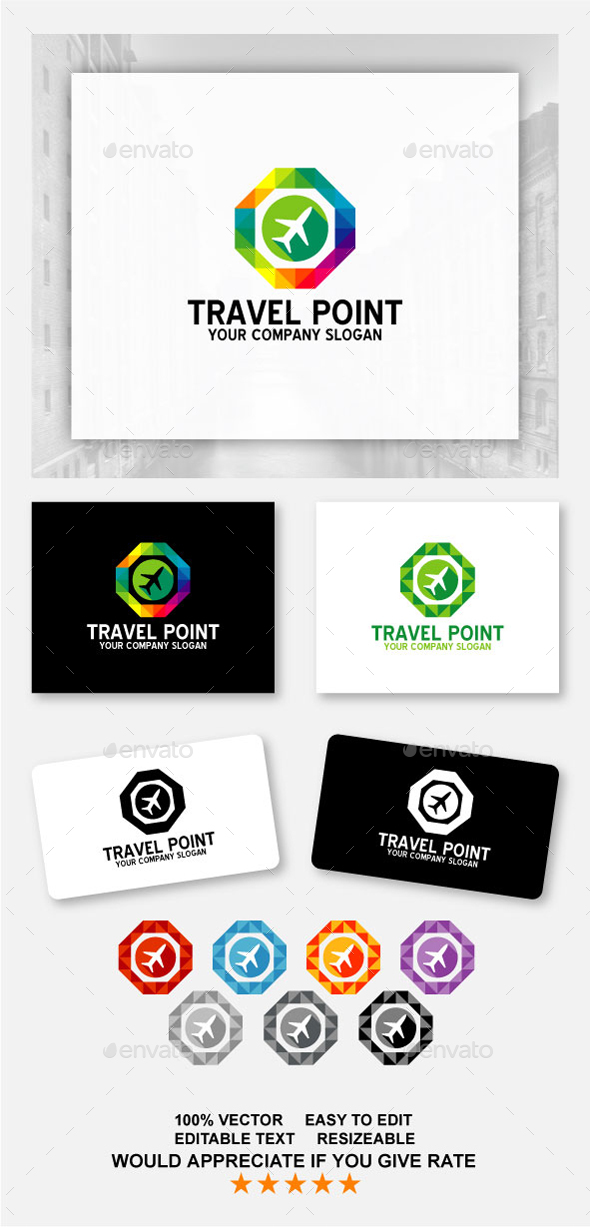 Travel Point - Abstract Logo Templates