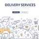Delivery Doodle Concept - GraphicRiver Item for Sale