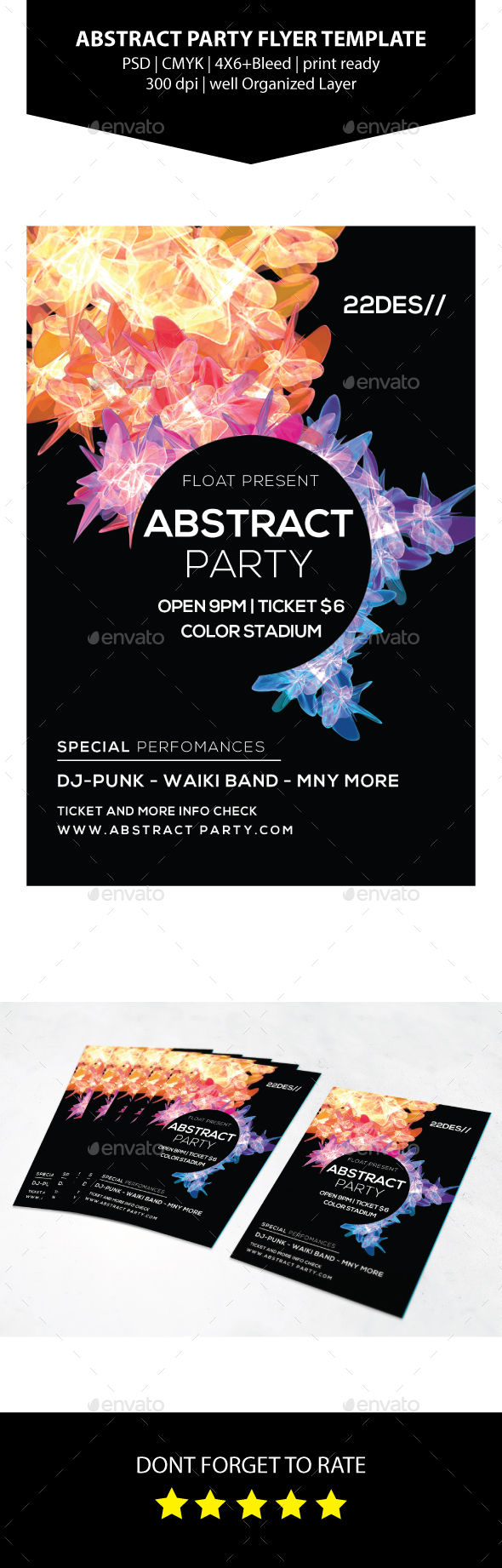 Abstract Party Flyer Template - Events Flyers