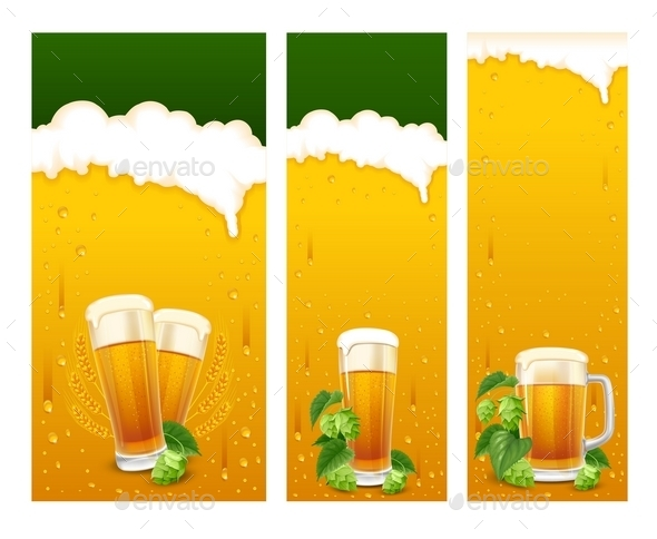 Beer Banners - Food Objects