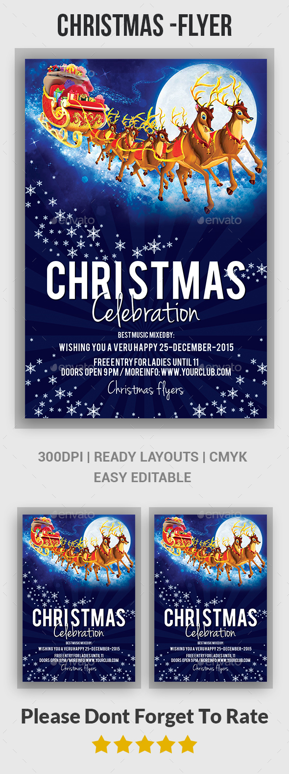 Christmas flyers - Events Flyers