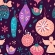 Christmas Baubles Seamless Pattern - GraphicRiver Item for Sale