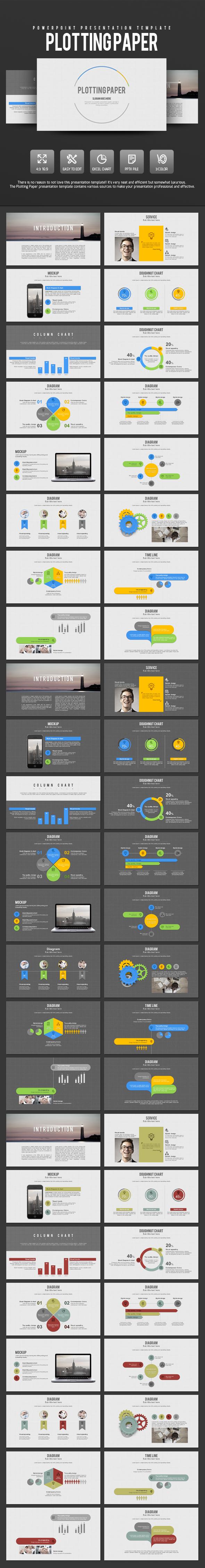 Plotting paper - PowerPoint Templates Presentation Templates