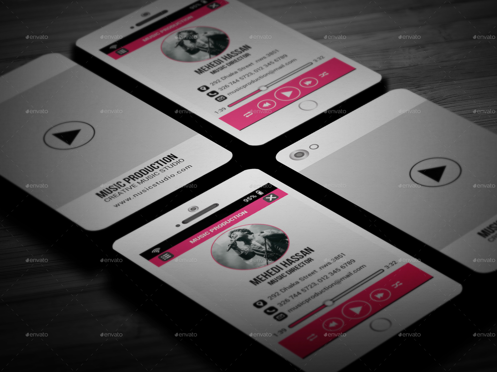 Creative Music Business Cards Images - Business Card Template