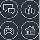 120 Flat Line Icons - Web Icons - GraphicRiver Item for Sale