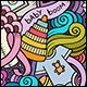 2 Baby Doodles Seamless Patterns