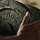 Athlete Putting Weights On Barbell - VideoHive Item for Sale
