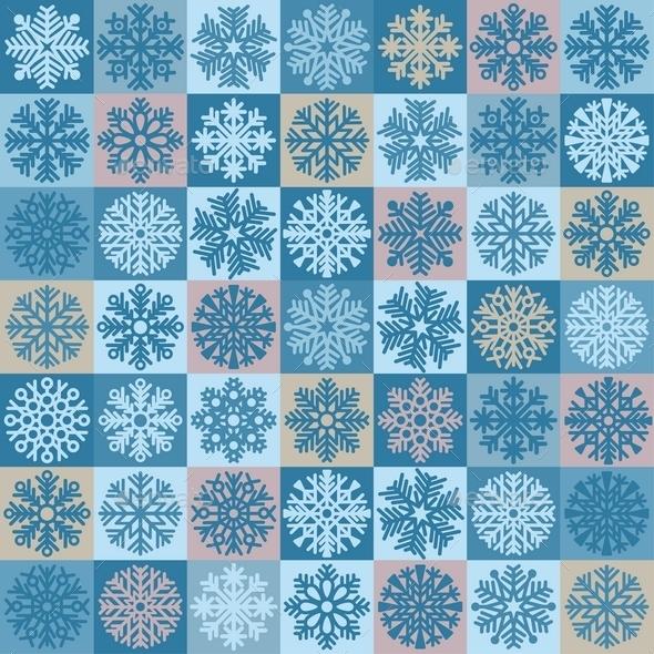 Snowflakes Seamless Pattern - Christmas Seasons/Holidays