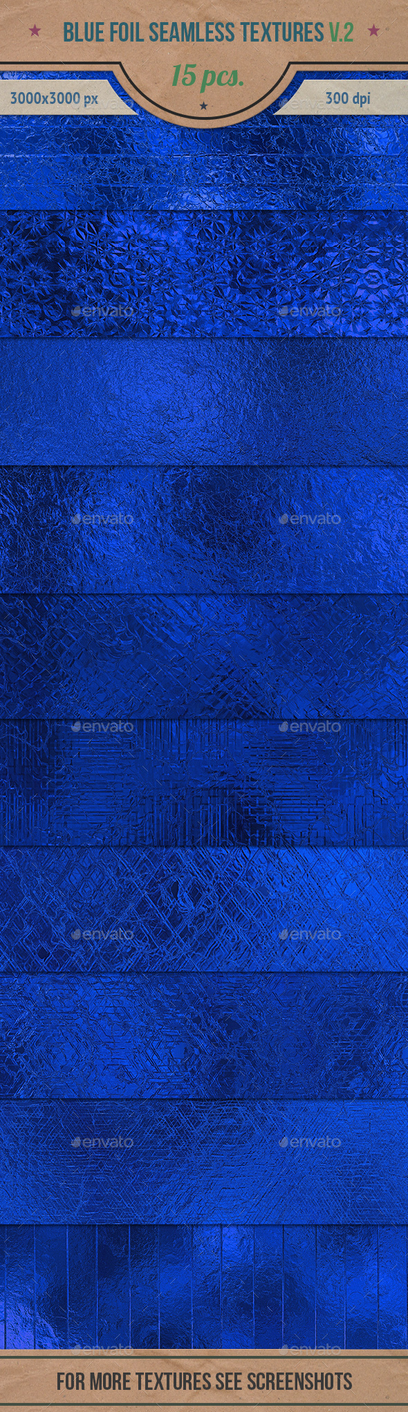 Blue Foil Seamless HD Textures Pack v.2 - Textures