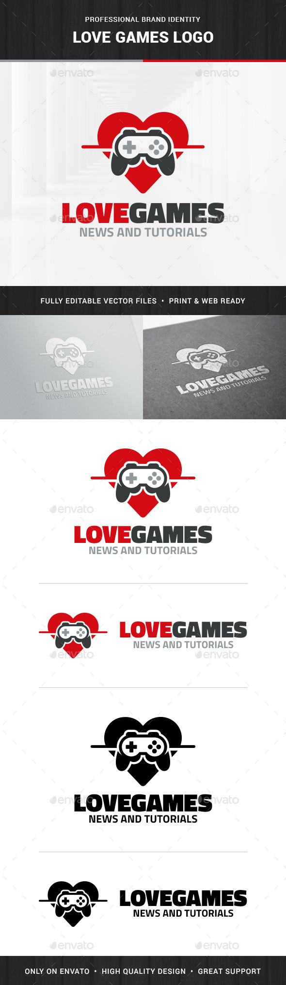 Love Games Logo Templates - Objects Logo Templates