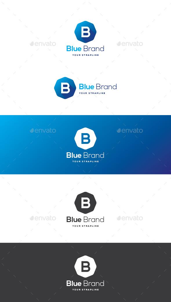 Blue Brand Letter B Logo - Letters Logo Templates