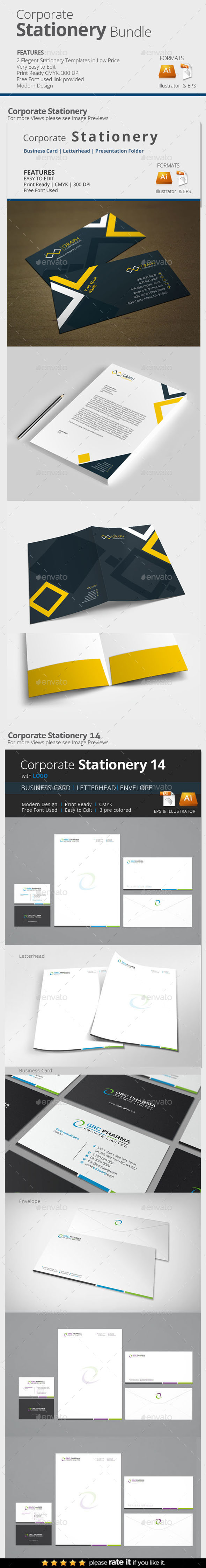Corporate Stationery Bundle - Stationery Print Templates