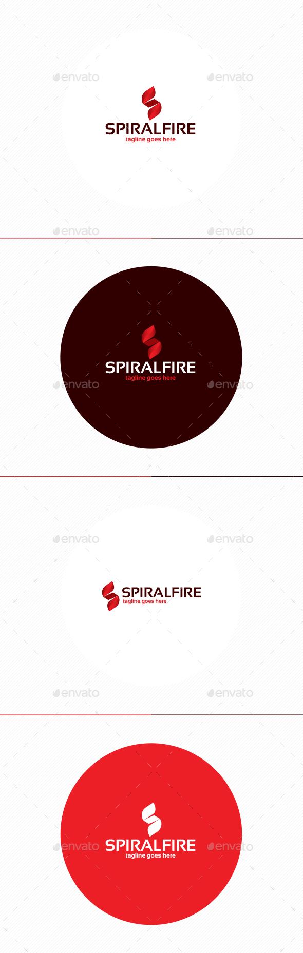 Spiral Fire Logo • Letter S - Letters Logo Templates