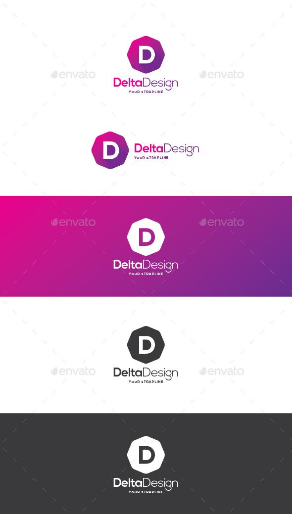 Delta Design Letter D Logo - Letters Logo Templates