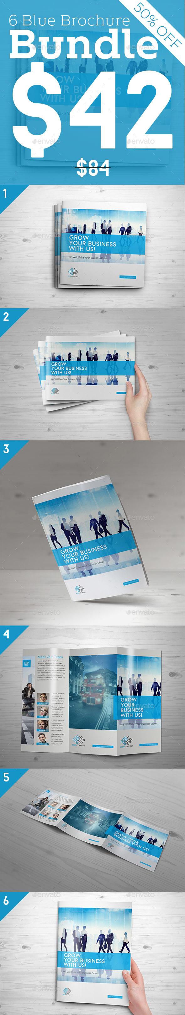Blue Brochure Bundle - Corporate Brochures