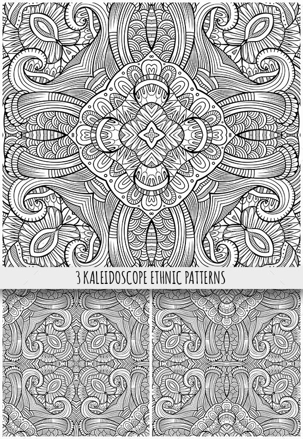 3 Ethnic Ornamental Seamless Patterns - Patterns Decorative