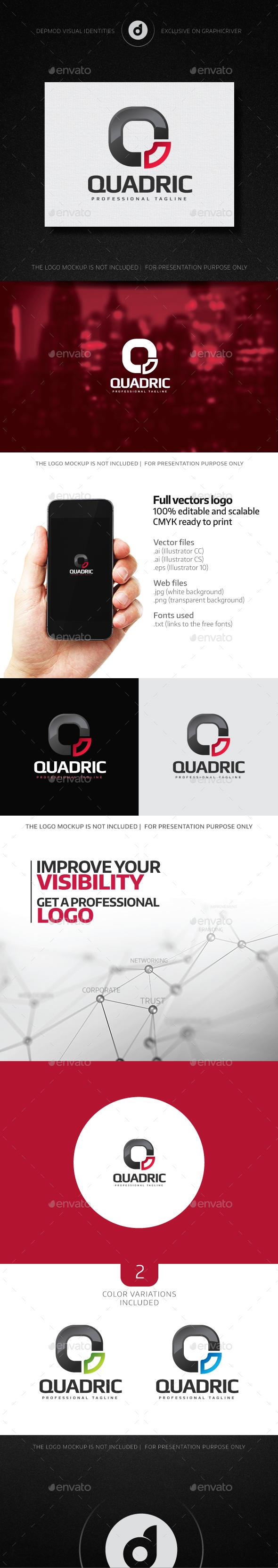 Quadric Logo - Letters Logo Templates