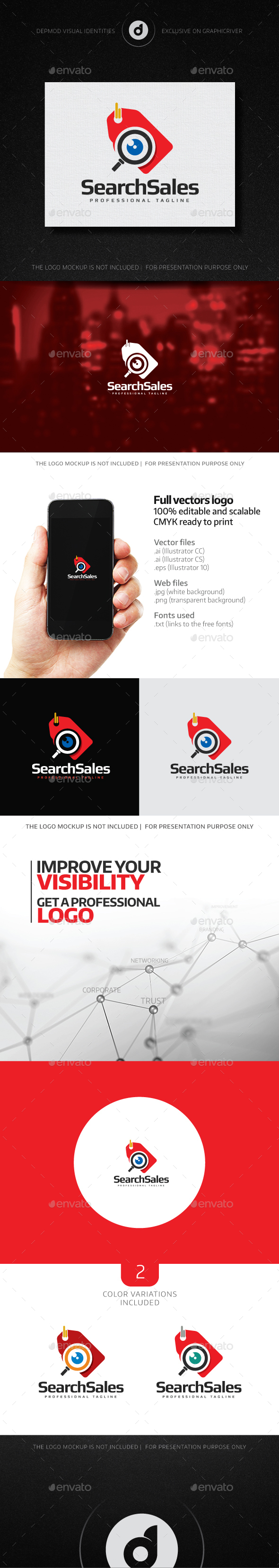 Search Sales Logo - Objects Logo Templates
