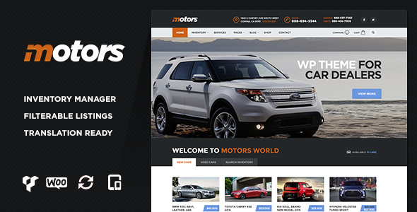 Motors – Car Dealership WordPress Theme