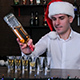 The Bartender in the Cap of Santa Claus - VideoHive Item for Sale