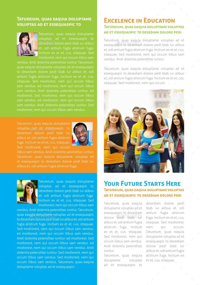 Educational Newsletter Template by carlos_fernando | GraphicRiver