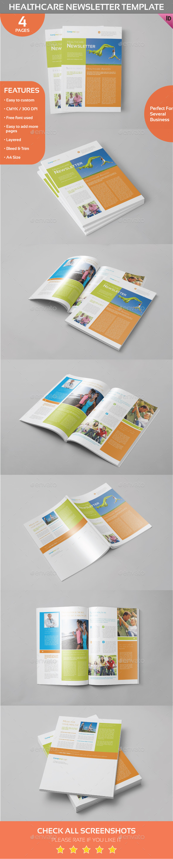 Healthcare Newsletter Template - Newsletters Print Templates