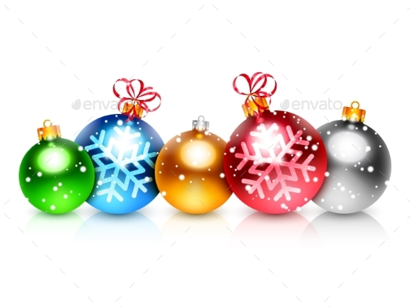 Colorful Christmas Balls - Christmas Seasons/Holidays