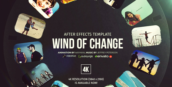 Wind of change by wayman videohive for After effects lyric video template
