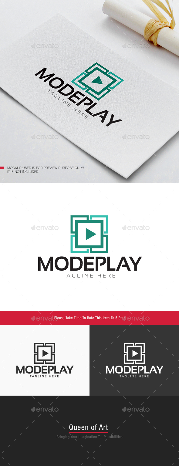 Mode Play Logo - Objects Logo Templates