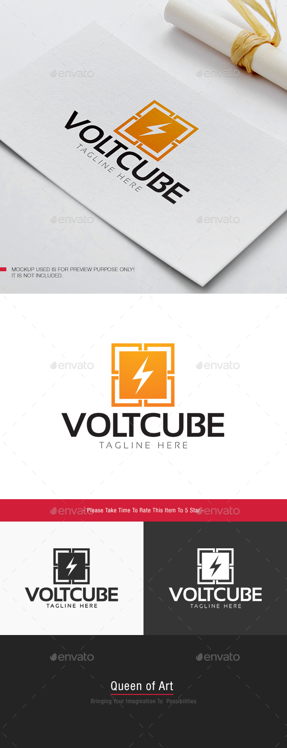 Volt Cube Logo - Objects Logo Templates