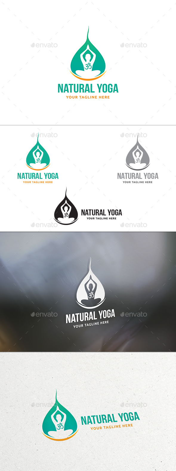Natural Yoga Logo - Humans Logo Templates