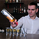 The Bartender Pours Alcohol at Shots - VideoHive Item for Sale