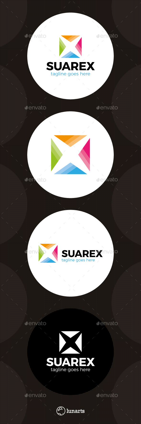 Color Square Letter X Logo - Letters Logo Templates