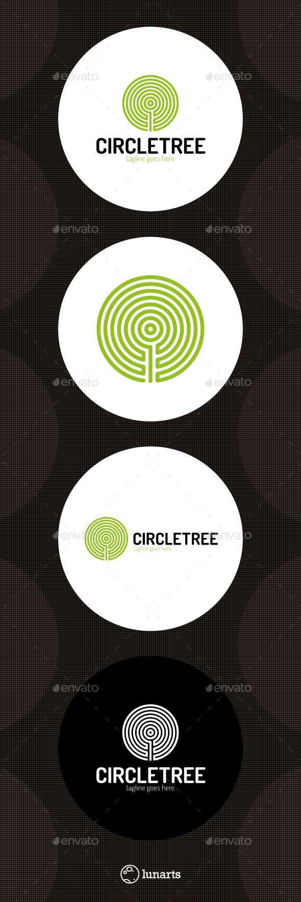 Circle Line Tree Logo - Nature Logo Templates
