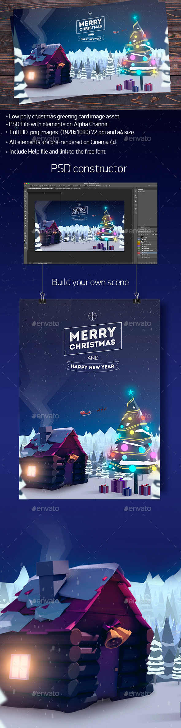 Christmas Forest Card - 3D Renders Graphics