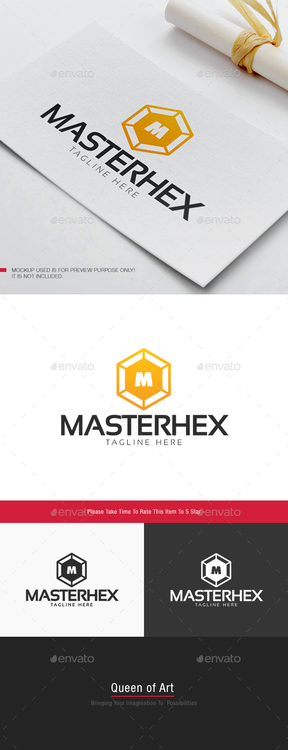 Master Hex Logo - Letters Logo Templates