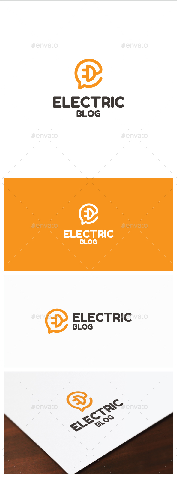 Electric Blogo Logo - Symbols Logo Templates