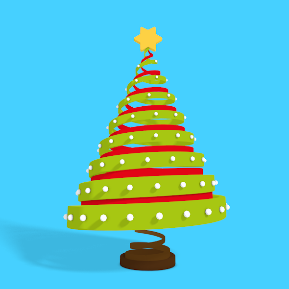 3D Christmas tree - 3DOcean Item for Sale