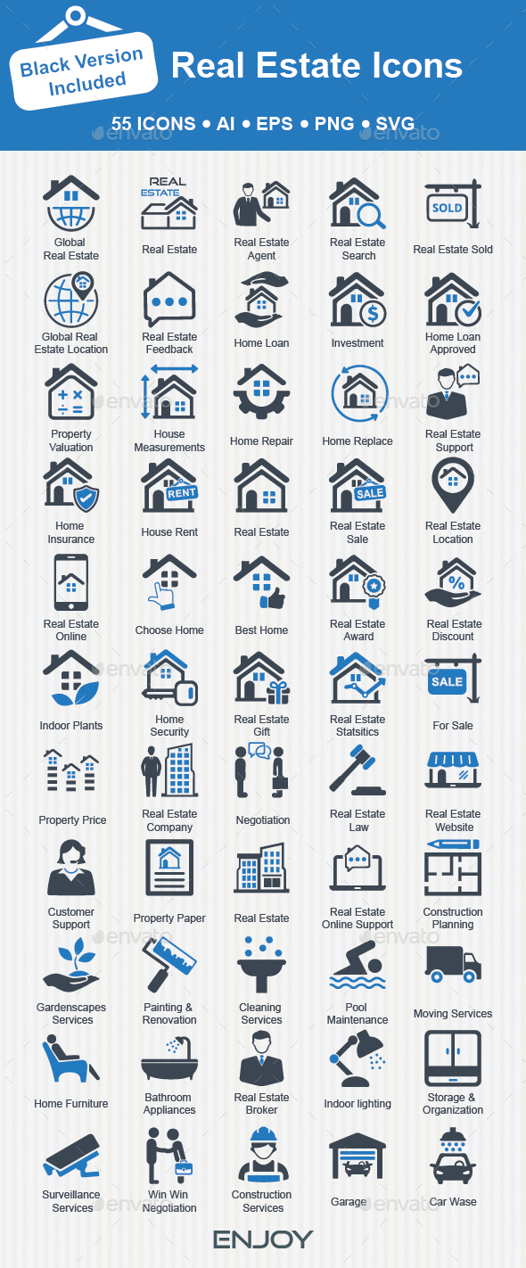 Real Estate Icons - Business Icons