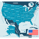 United States Map, Flag and Navigation Labels - GraphicRiver Item for Sale