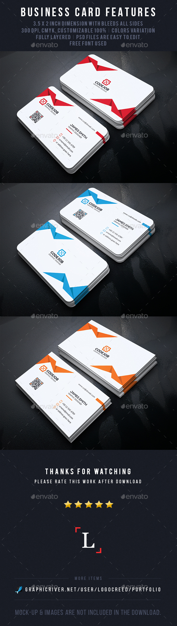 Clean Business Cards - Business Cards Print Templates