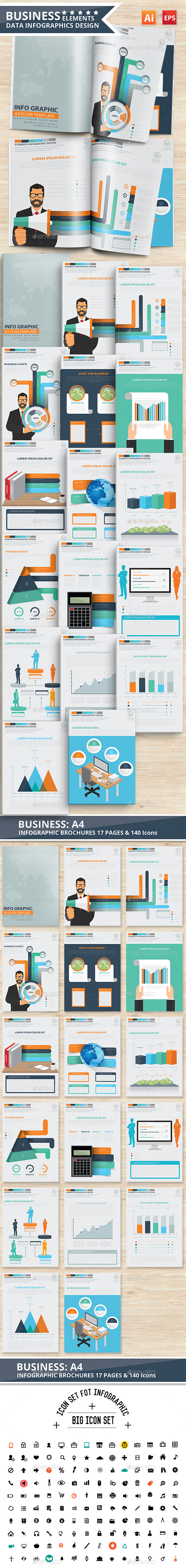 Business Infographics 17 Pages Design - Infographics