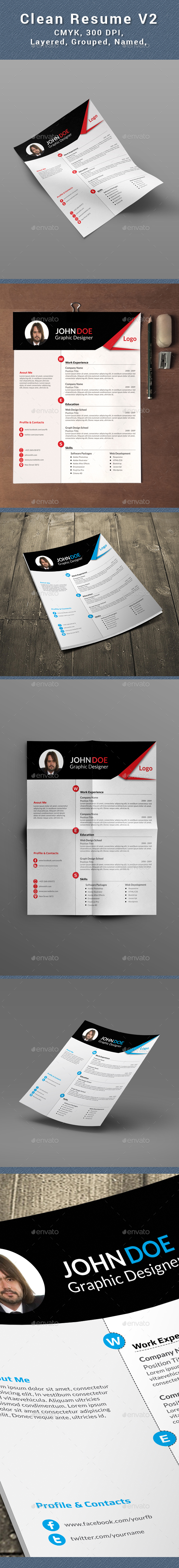 Clean Resume /CV - Resumes Stationery