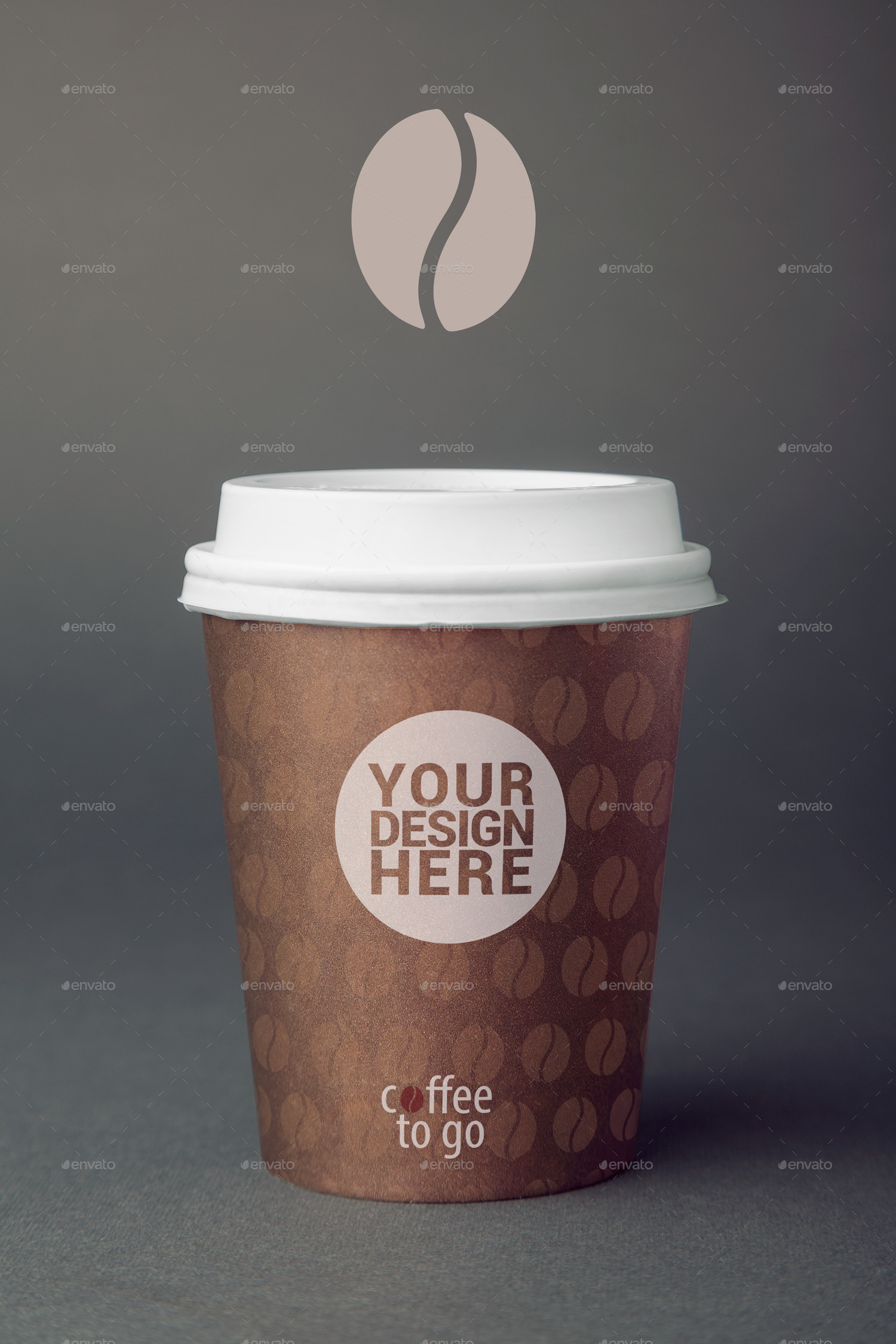 coffee to go cup branding edition 1 photo mockup by mockuplicious graphicriver. Black Bedroom Furniture Sets. Home Design Ideas