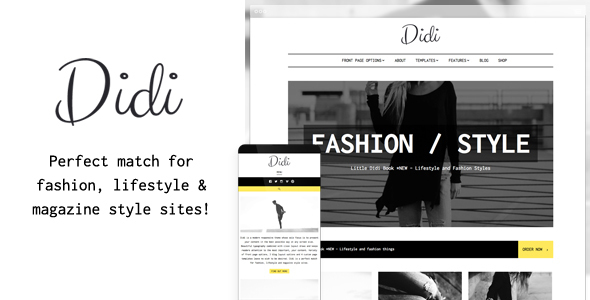 Didi – Fashion Blog WordPress Theme