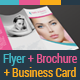 Health & Beauty Flyer - Trifold Brochure - Business Card Pack - GraphicRiver Item for Sale